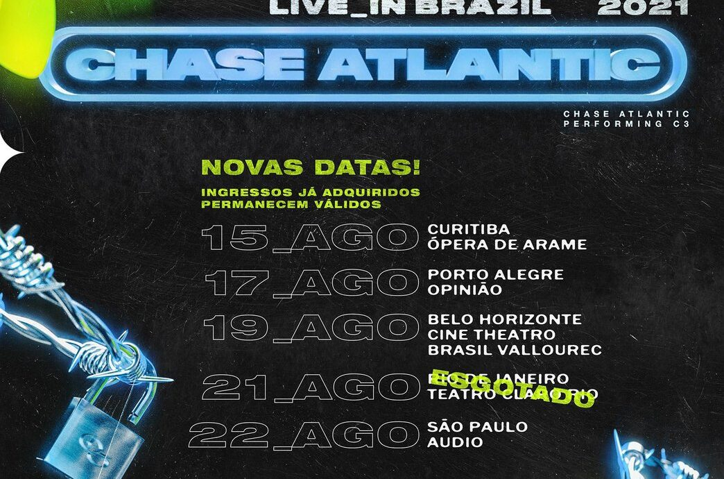 Chase Atlantic - Beauty in Death shows no Brasil